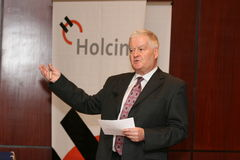 Markus Wirth. CEO Holcim Romania Royalty Free Stock Photography