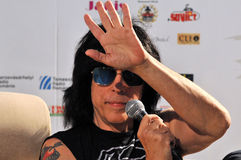 Marky Ramone Grammy Award musician during a press conference Stock Image