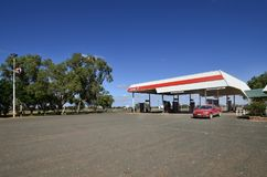 Australia, Marla Roadhouse. Marla, South Australia - November 15, 2017: Petrol station on Marla roadhouse on Stuart highway royalty free stock photos