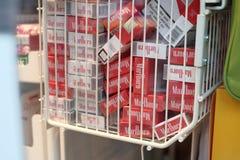 Marlboro cigarette boxes Stock Image