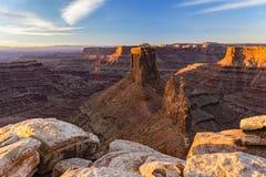 Marlboro Point Ledge and Shafer Canyon Sunrise stock image
