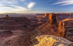 Marlboro Point and Shafer Canyon Sunrise royalty free stock image