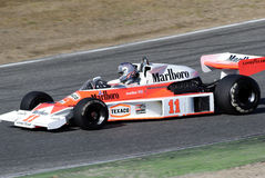 Marlboro Team McLaren. James Hunt. Royaltyfria Foton