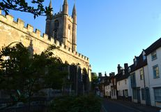 Marlborough威尔特郡教会和村庄 免版税库存图片