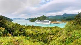 Marlborough soa o navio de cruzeiros, Nova Zelândia imagens de stock royalty free
