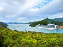 Marlborough soa o navio de cruzeiros, Nova Zelândia imagem de stock royalty free