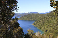 Marlborough Sounds. With walking track in New Zealand Royalty Free Stock Photo