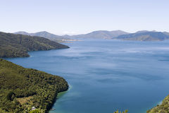 Marlborough Sounds. Part of the Queen Charlotte track at Marlborough Sounds in New Zealand Stock Images