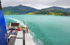 Marlborough Sounds, Cook Strait Ferry, New Zealand Royalty Free Stock Images