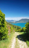 Trekking in Marlborough Sounds Royalty Free Stock Images
