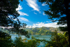 Marlborough Sounds framed view Stock Photo