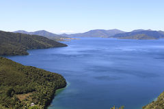 Marlborough Sounds in New Zealand. Part of the Queen Charlotte track around Marlborough Sounds in New Zealand Stock Image