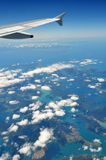 Marlborough Sounds & Picton, Aerial, New Zealand Royalty Free Stock Images