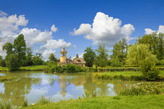 The Marlborough Tower and pond Stock Photography