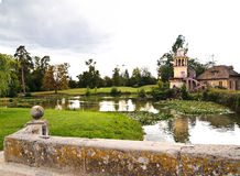 Marlborough Tower and pond in Marie-Antoinette's Royalty Free Stock Images