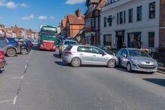 Marlborough, Wiltshire, UK, 24 Μαρτίου, 2019: Handbrake σε ένα αυτοκίνητο αποτυγχάνει αναγκάζοντας το για να τρέξει σε ένα άλλο α στοκ εικόνες