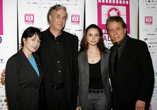 Marlene Dermer, director Ricardo Preve, Mia Maestro and Edward James Olmos. Attend the LALIFF Screening of `Chagas: A Hidden Affliction` held at the Egyptian Royalty Free Stock Photos