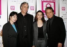 Marlene Dermer, director Ricardo Preve, Mia Maestro and Edward James Olmos Royalty Free Stock Photos
