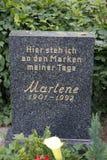 Marlene Dietrich Stock Afbeelding