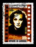 Marlene Dietrich 1901-1992, Amerikaanse Bioskoop serie, circa 2001 Royalty-vrije Stock Foto