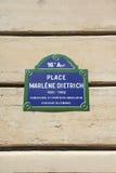 Marlene Dietrich-vierkant Stock Foto