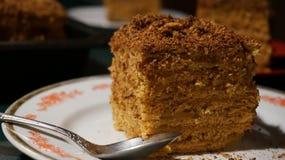 Marlenka Honey Cake Dessert Arkivbilder