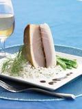 Marlin azzurro arrostito su riso fotografie stock libere da diritti