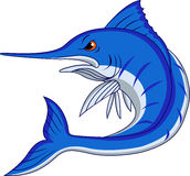 Marlin fish cartoon Royalty Free Stock Photos