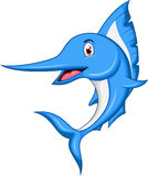 Marlin fish cartoon. Illustration of marlin fish cartoon Royalty Free Stock Images