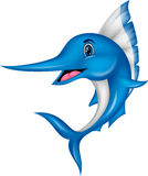 Marlin fish cartoon Stock Image