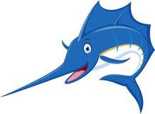 Marlin fish cartoon Royalty Free Stock Photos