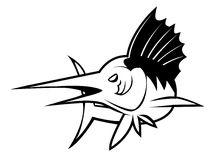 Marlin fish. Illustrator desain .eps 10 Stock Illustration