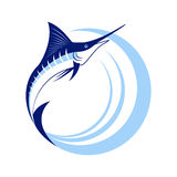 Marlin Fish with Sea Waves Royalty Free Stock Photography