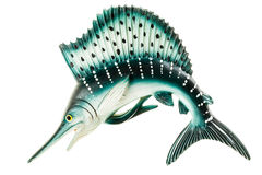 Marlin. A small swordfish fridge magnet made in plastic and isolated over white Royalty Free Stock Photography