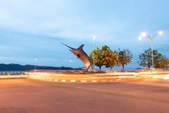 Marlin Statue In Kota Kinabalu immagini stock