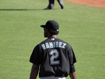 Marlins Hanley Ramirez backside, name on jersey Royalty Free Stock Photography