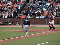 Marlins Hanley Ramirez runs towards homeplate Stock Images
