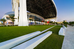 Marlins Park at dusk Royalty Free Stock Photos