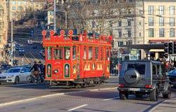 Marlitram sul quadrato di Bellevue a Zurigo, Svizzera Fotografie Stock Libere da Diritti