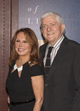 Marlo Thomas and Phil Donahue Stock Photography