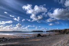 Marloes海滩Pembrokeshire 库存照片