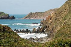 Marloes Sands, Pembrokeshire. A view of Marloes Sands, Pembrokeshire - with tide in Stock Photos