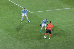 Marlos Shakhtar Donetsk confronts players of  Celta de Vigo Royalty Free Stock Photos