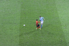 Marlos Shakhtar Donetsk und Andreu Fontàs Celta Vigo Lizenzfreies Stockbild