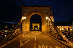 Marlow Bridge at Night Royalty Free Stock Images