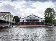 Marlow Bridge and Rowing Club Royalty Free Stock Images