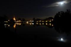 Marlow at night royalty free stock photos