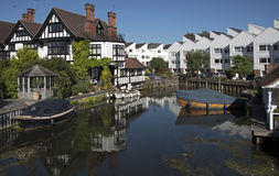 Marlow on the Rive Thames. Marlow on the River Thames in Buckinghamshire Royalty Free Stock Photography