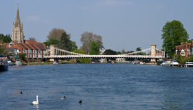 Marlow on the Thames Royalty Free Stock Photography