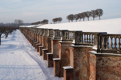 Marly άξονας του χειμώνα στο πάρκο Peterhof Αγία Πετρούπολη russ Στοκ Φωτογραφίες